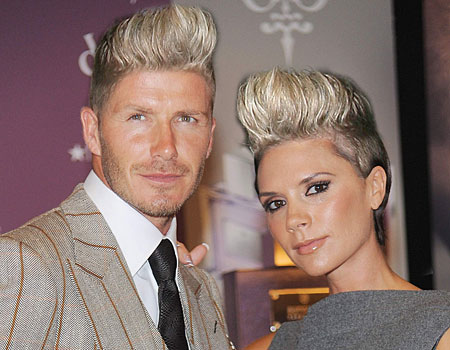 David and Victoria Beckham could pass for an 80s synth-pop duo