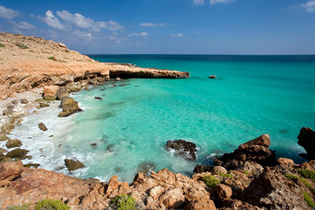 Solitude: You won't find many other tourists in the coves of Socotra