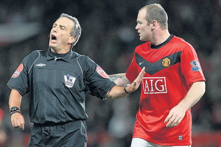 Alan Wiley came in for criticism after Manchester United's draw with Sunderland