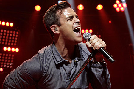 Robbie Williams heading for eighth number one in the album charts