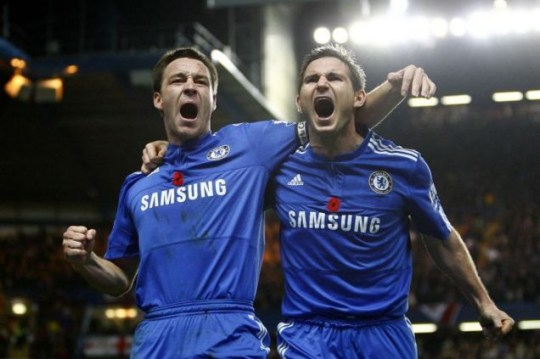 Chelsea duo John Terry, left, and Frank Lampard were both injured oN England duty