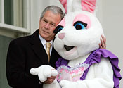 Lacking any other pictures of people in rabbit costumes, we thought we'd use this one, because it's funny