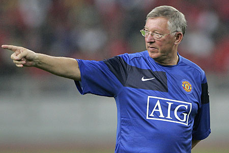 Pointing the way: Ferguson is tipping Premier League sides to continue their fine run in the Champions League