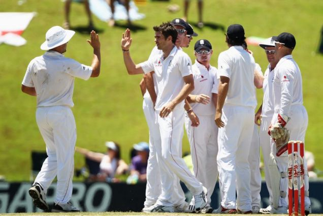 James Anderson takes the crucial wicket of Kallis