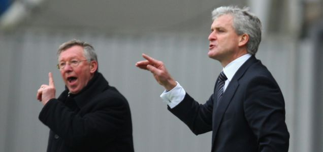 Sir Alex Ferguson and Mark Hughes
