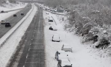 Big freeze causes rail and road chaos across Britain
