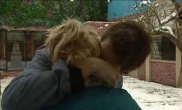 Bassshunter and Katia in Celebrity Big Brother's first kiss