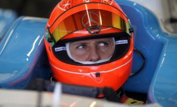 Schumacher back on the F1 track
