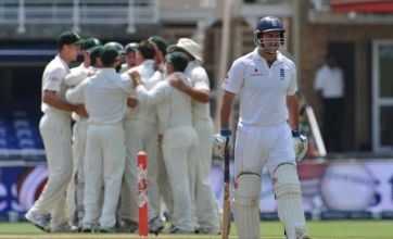 England suffer nightmare first day