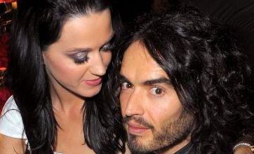 Leggy Katy Perry shows fiancé Russell Brand off to Hollywood