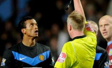 Nani sees red as Villa hold United