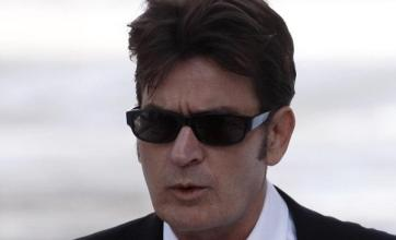 Charlie Sheen unites with wife