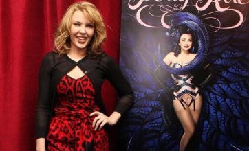 Kylie attends burlesque show