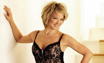 Eastenders' Gillian Taylforth strikes a Kate Moss pose