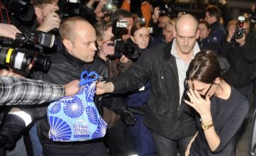 Victoria Beckham lands in Finland to see David Beckham but gets mobbed