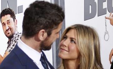 Jennifer Aniston and Gerard Butler step out for The Bounty Hunter premiere