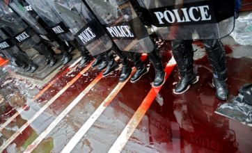 Thai protesters in Bangkok say blood feud is not over yet
