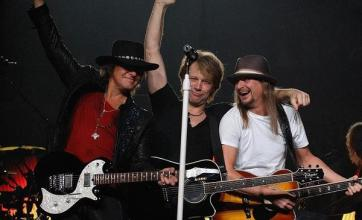 Kid Rock joins Bon Jovi on stage