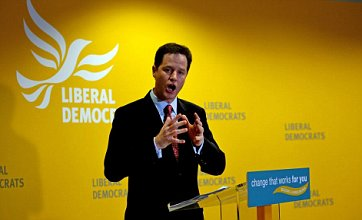 Labour and Tories want to 'protect corrupt, two party politics', claims Nick Clegg
