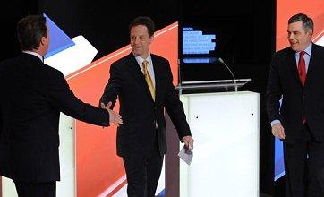 General Election 2010: Nick Clegg holds his own in leaders' debate