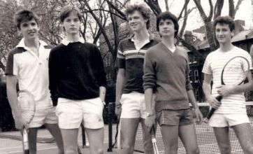 Nick Clegg's schooldays revealed in tennis picture