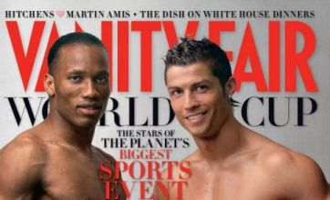 Cristiano Ronaldo and Didier Drogba strip off for World Cup 2010 shoot