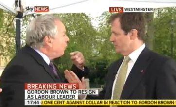 Adam Boulton and Alastair Campbell live Sky TV fight: a transcript