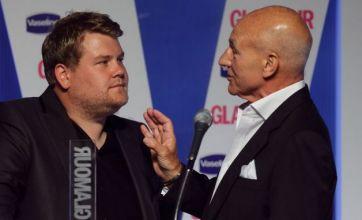 James Corden and Sir Patrick Stewart in Glamour awards shock spat