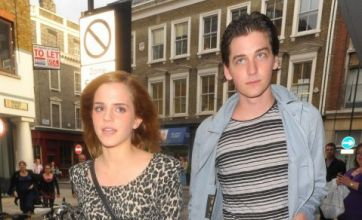 Emma Watson hits the town with Burberry model Georgie Craig