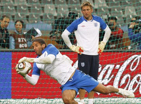 Robert Green (top) has been axed by England in favour of David James