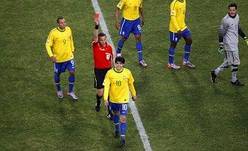 Kaka sent off as Brazil defeat Ivory Coast to go through