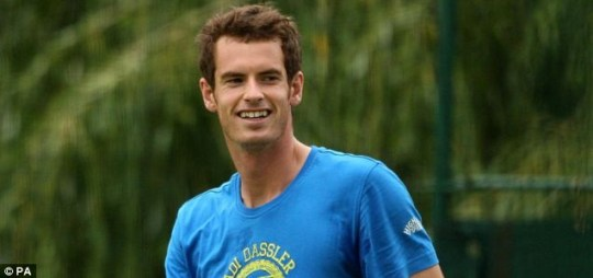 Andy Murray during a practice session ahead of Wimbledon