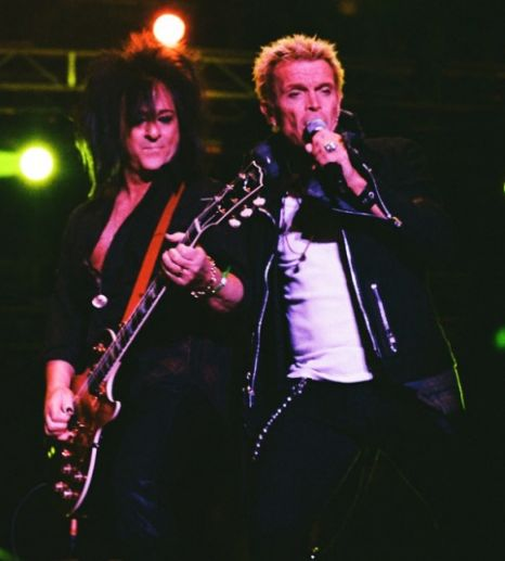 Billy Idol and his big-haired guitarist rock the INmusic crowd in Croatia