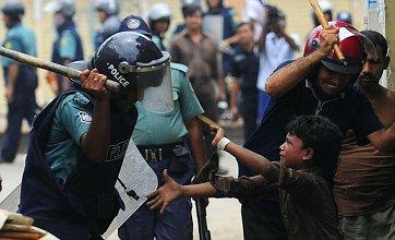 Violence erupts on the streets of Bangladesh