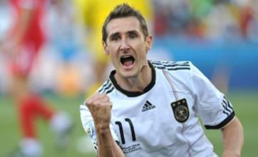 Miroslav Klose a major doubt for Germany v Uruguay play-off