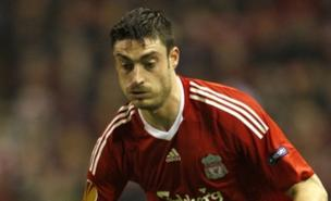 Albert Riera follows Yossi Benayoun out of Anfield (PA)