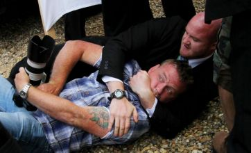 Violence breaks out at Katie Price and Alex Reid's marriage blessing