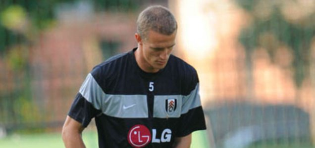 Fulham's Brede Hangeland during training