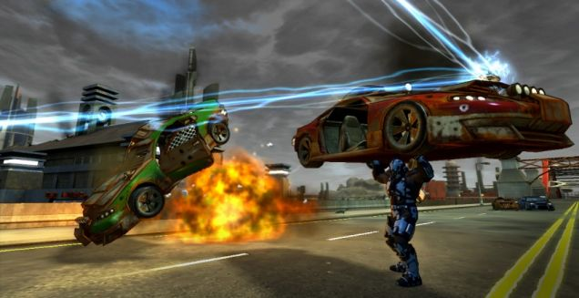 Crackdown 2 (360) - weight-lifting with cars always impresses the ladies