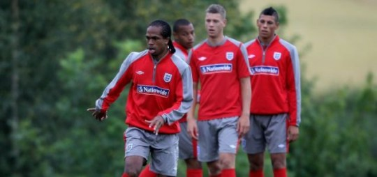 Big chance: Delfouneso and his young team-mates train at Warwickshire University this week  Picture: Getty