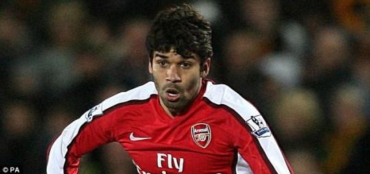 Horror tackle: Eduardo suffered a broken leg in 2008