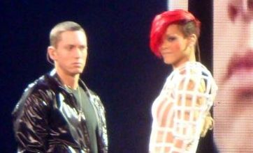 Eminem drops into Rihanna gig to perform Love The Way You Lie