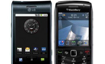 BlackBerry Pearl 3G vs LG Optimus GT540: Phone Face-Off