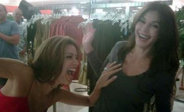 Desperate Housewives' Teri Hatcher saves Eva Longoria with her boob
