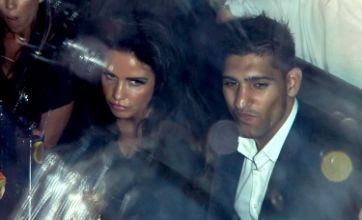 Katie Price cosies up to Amir Khan at Expendables premiere