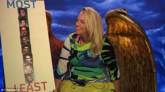 Josie takes part in the Rate your Mates task in the Diary Room - she was a clear favourite in this challenge