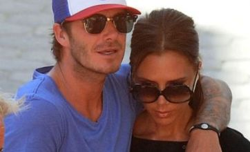 David and Victoria Beckham in rare show of love, but Posh still can't crack a smile