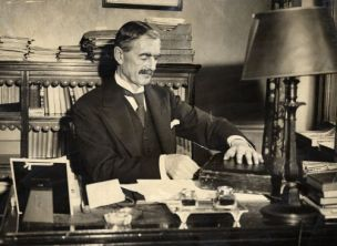 Neville Chamberlain: His battle plans were stolen by spy Marina Lee (Photo: Associated Newspapers)