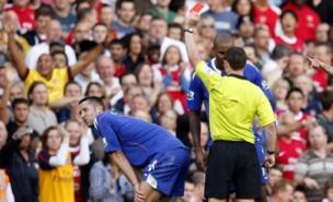 Gary Cahill was sent off (PA)
