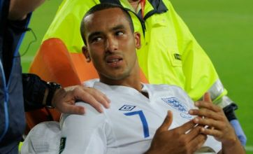 Theo Walcott injured and taken to hospital for x-ray